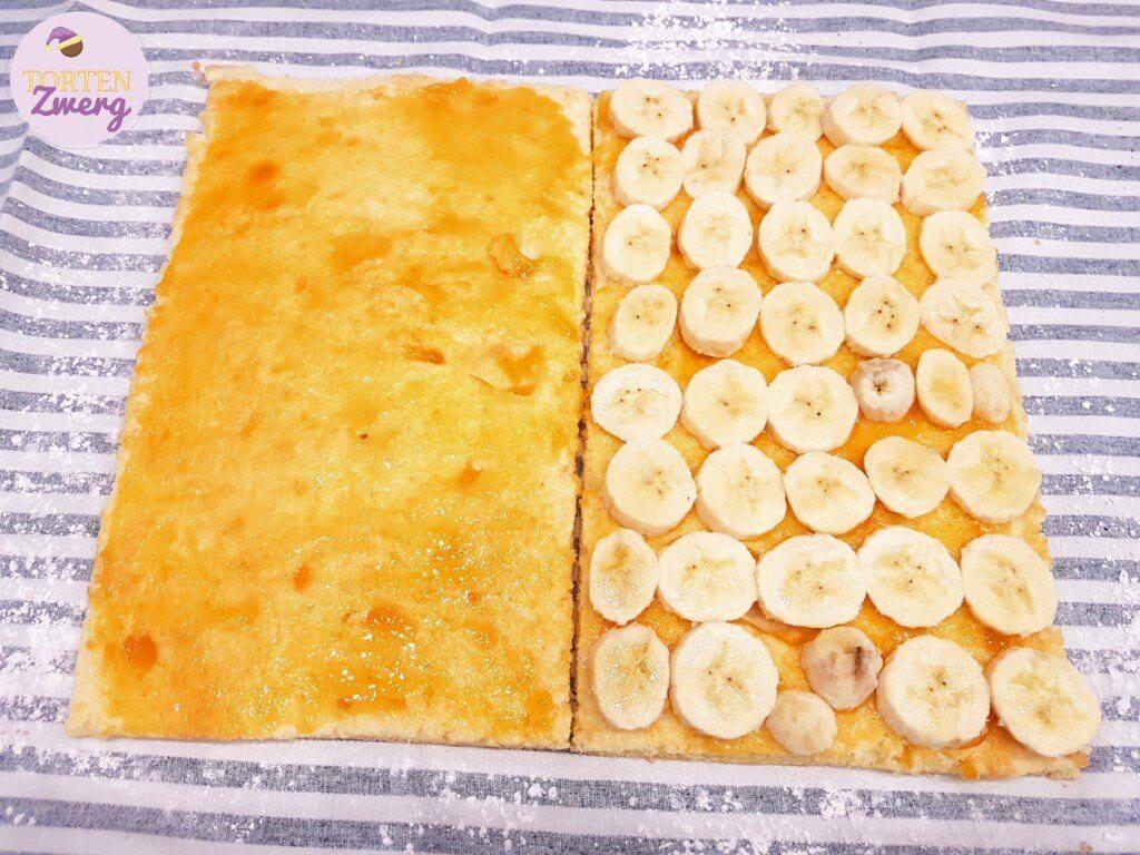 Falsche Bananenschnitte Aufschnitt