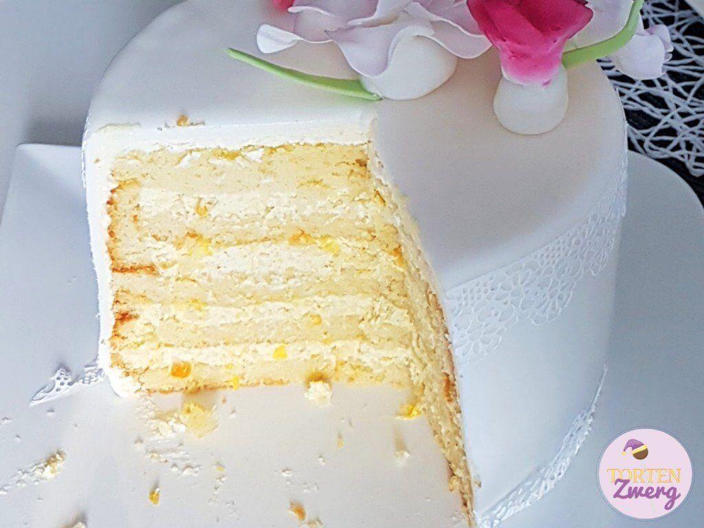 fruchtig Torte Anschnitt