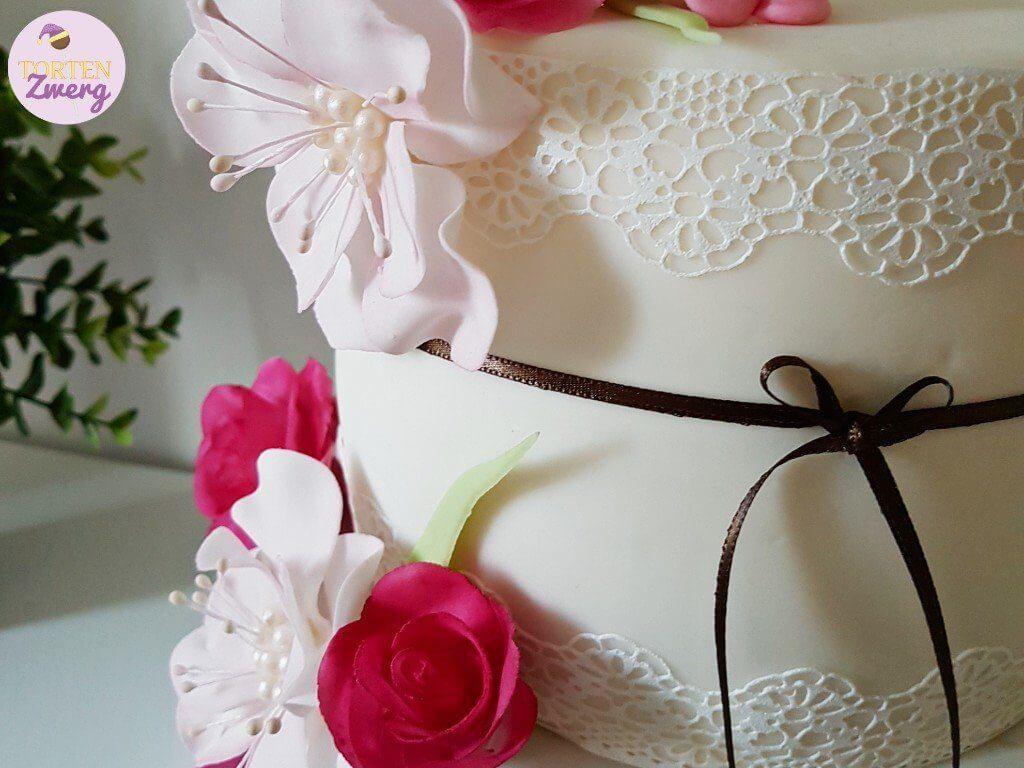 essbare Spitze Torte