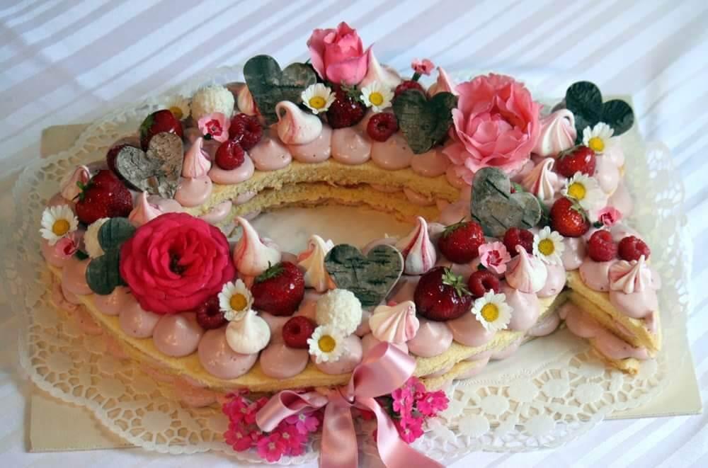 Naked Letter Cake